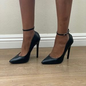 Back Pumps with Ankle Straps